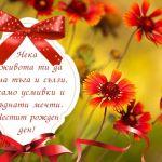 Нека в живота ти да няма тъга и сълзи, а само усмивки и сбъднати мечти. Честит рожден ден!