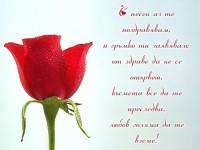 С песен аз те поздравявам, и гръмко ти заявявам: от здраве да не се отървеш, късмета все да те преследва, любов голяма да те вземе!