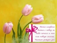 Всяка изгубена битка е повод за ново начало и път към победа голяма. Честит рожден ден ти желая!