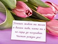 Успешен живот ти желая и винаги това, което ти е на сърце да получаваш. Честит рожден ден!