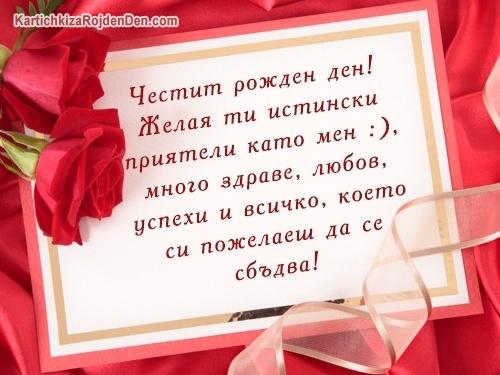 Честит рожден ден! Желая ти истински приятели като мен :), много здраве, любов, успехи и всичко, което си пожелаеш да се сбъдва!