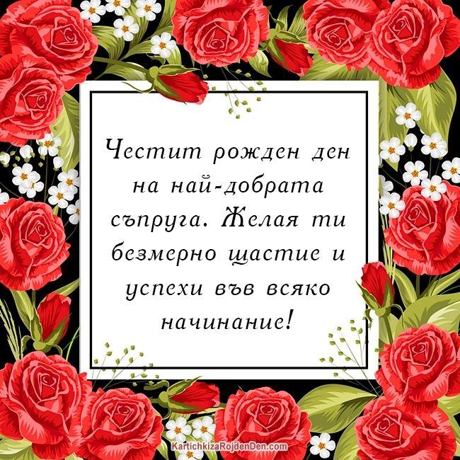 Честит рожден ден на най-добрата съпруга. Желая ти безмерно щастие и успехи във всяко начинание!